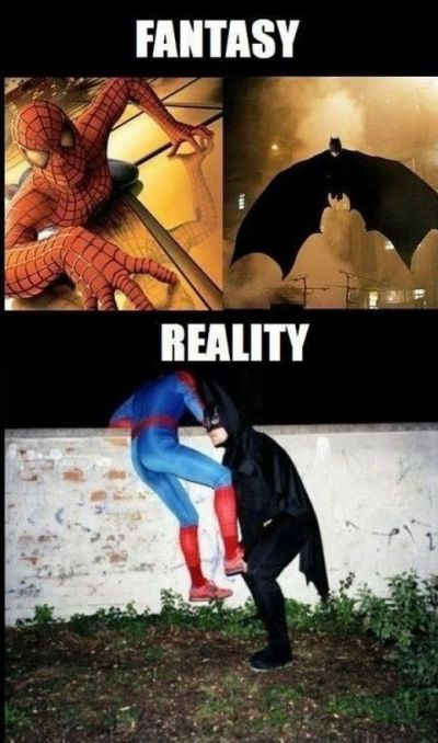 spiderman and batman fantasy versus reality