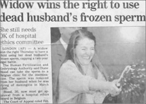 woman wins the right to use frozen sperm funny