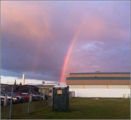 The pot of gold under the rainbow