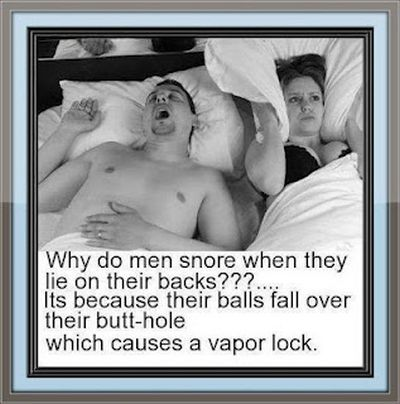 secret to why men snore
