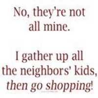 gathering the neighbors kids for shopping