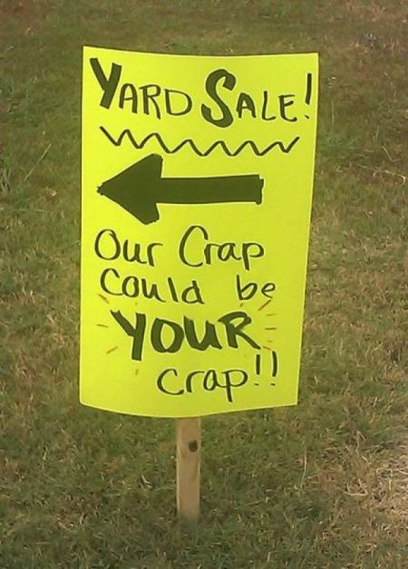 yard sale our crap could be your crap