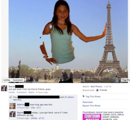 Visit to Paris facebook photoshop fail
