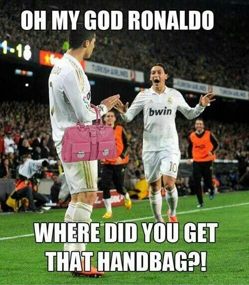 Ronaldo where did you get that handbag