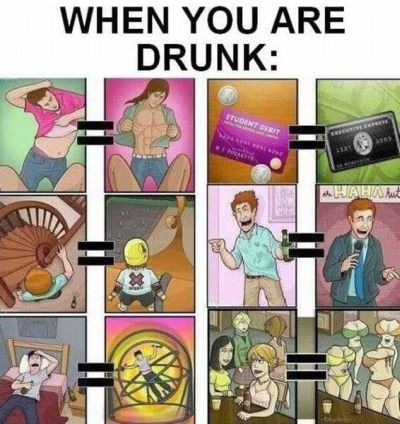 Reality when you are drunk