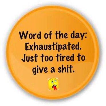 Exhaustipated badge