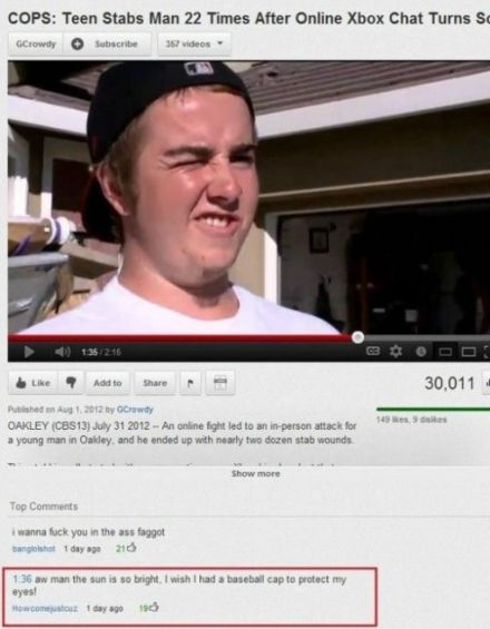 baseball cap funny youtube comment