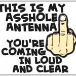 This is my a**hole antenna