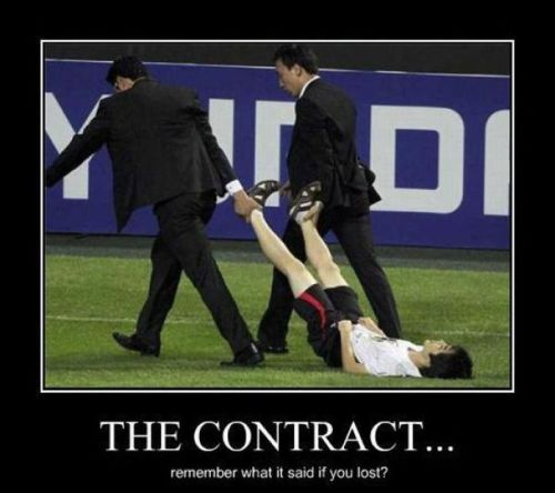 Football demotivational the contract you did not respect it