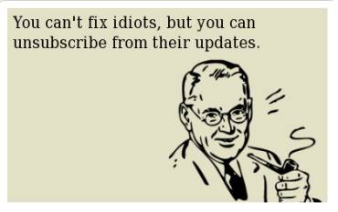 You can't fix idiots e-card