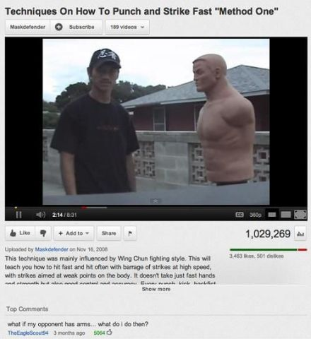 what if your opponent has arms funny youtube comment