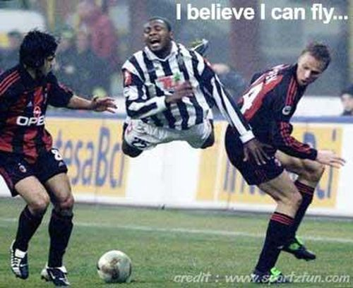 I believe I can fly football funny