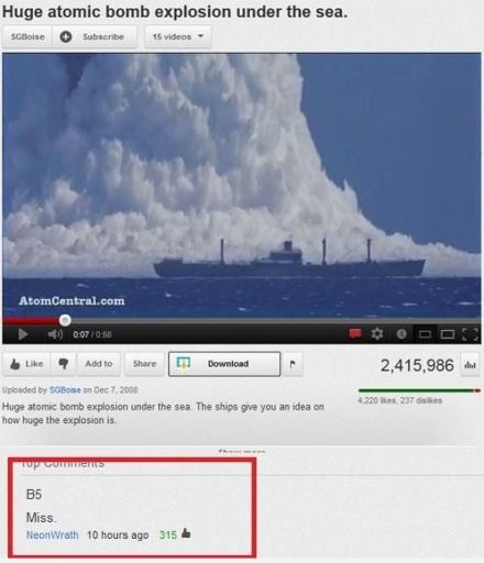 youtube funny battleship comment