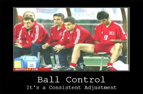 Ball control -it's about adjustment