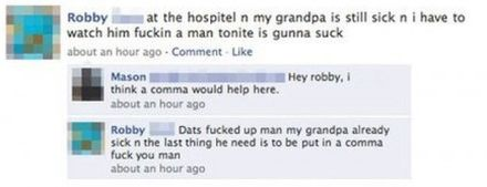 facebook fail grandpa comma and coma