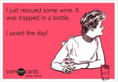 I just rescued some wine trapped in a bottle ecard