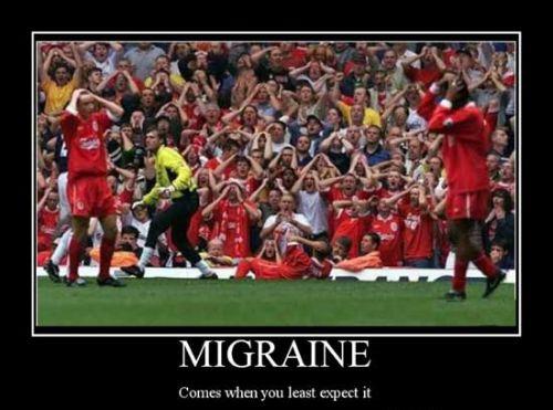 football funny when migraine strikes