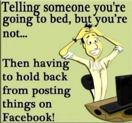 funny facebook cartoon going to bed