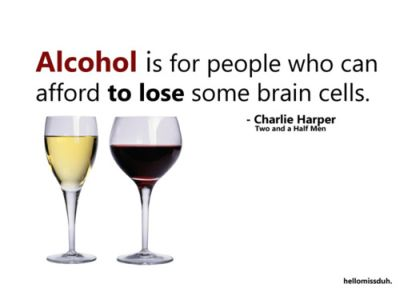 Alcohol is for people who can afford to lose brain cells