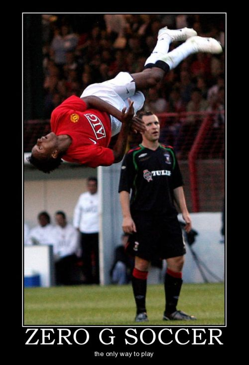 football demotivational zero gravity soccer