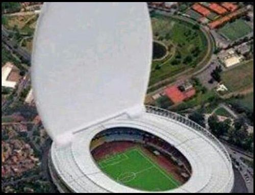 Football toilet stadium