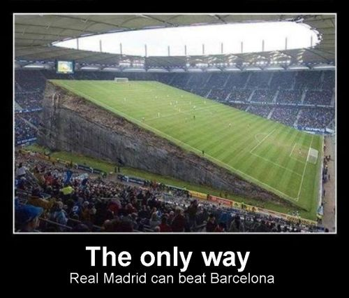 The only way Real Madrid can beat Barcelone