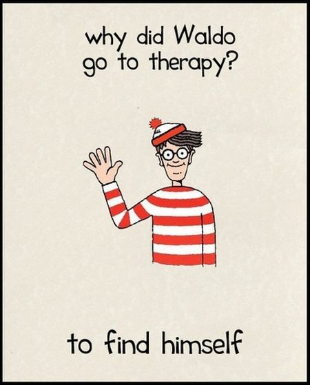 Why did Waldo go to therapy