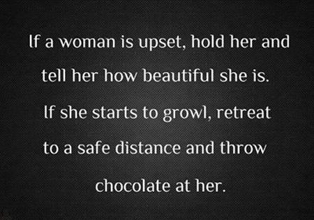 If a woman is upset funny quote