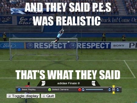 PES meme and they said that PES was realistic