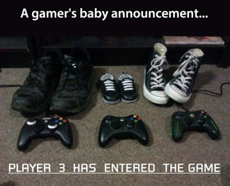 a gamers baby announcement
