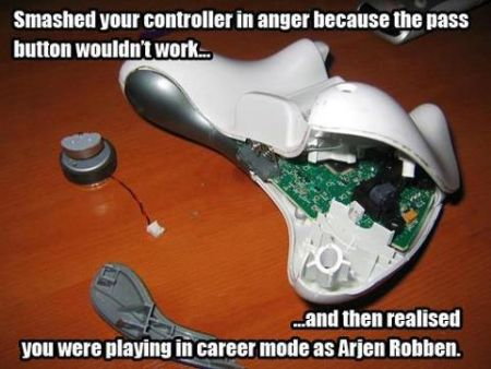 smashed your remote playing football video game