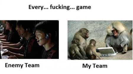 Video games funny my team versus their team
