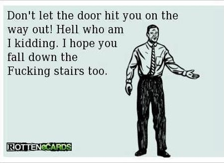 don't let the door hit you on the way out ecard