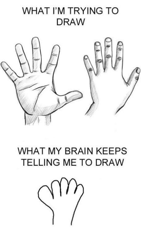Drawing hands funny