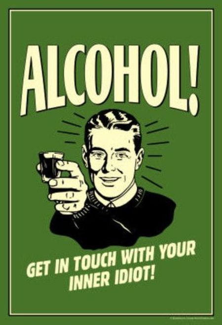 alcohol retro poster funny