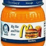 gerber Big Mac and fries baby food