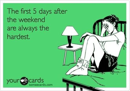 the first five days after the weekend ecard