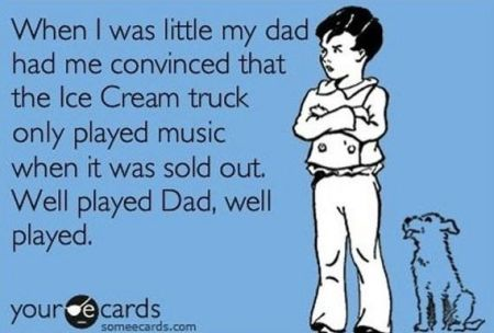 ice cream truck playing music when it was sold out ecard