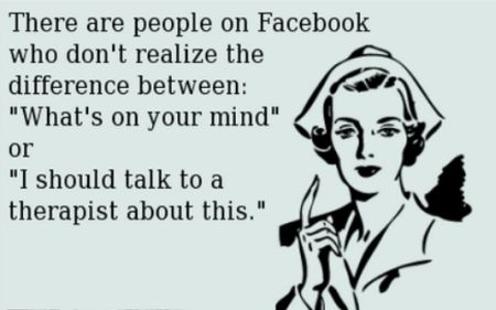 Facebook funny what's on your mind ecard