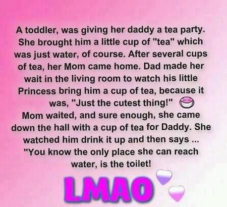 toddler funny cup of tea story