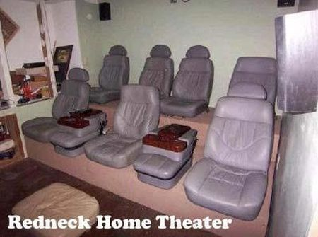 redneck home theatre