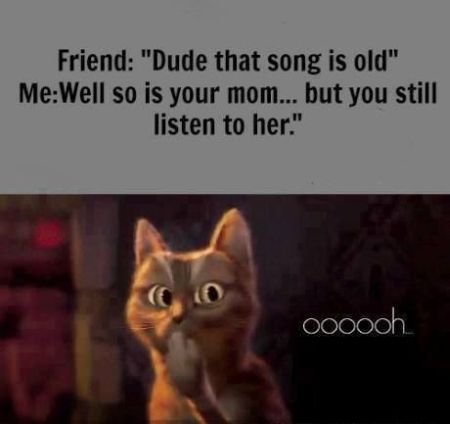 Dude that song is old so is your mum funny