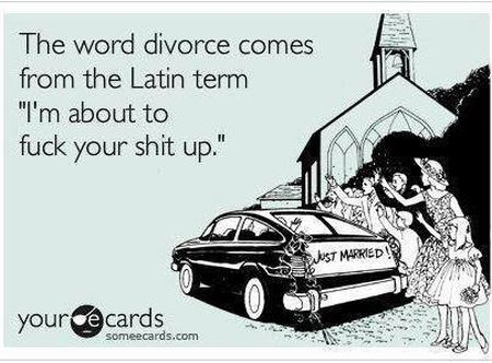 the word divorce comes from the Latin term ecard