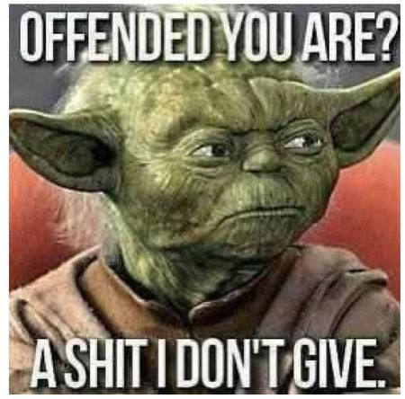 offended you are? Yoda funny quote