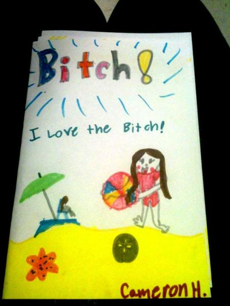 I love the b*tch kids funny picture
