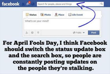Facebook April fools prank