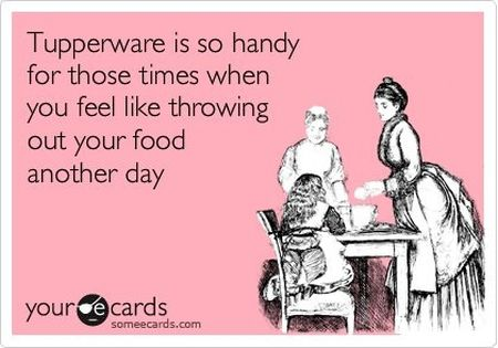 Tupperware is so handy funny ecard