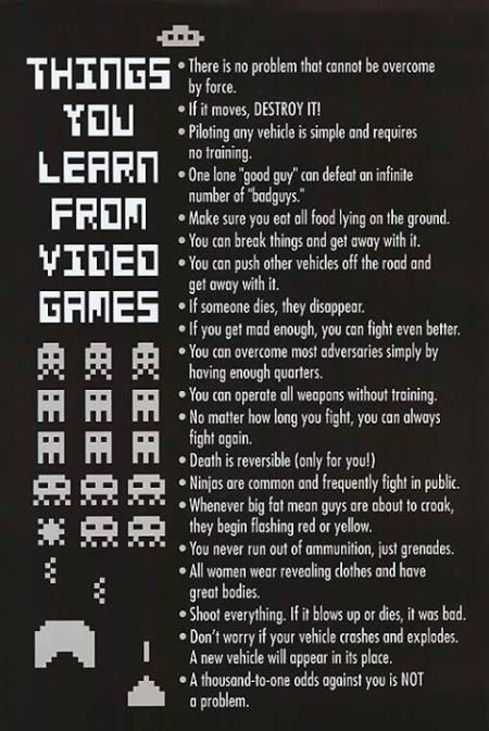 Things you learn from video games