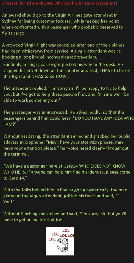 funny virgin airlines  employees answers