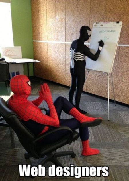 spiderman web designer
